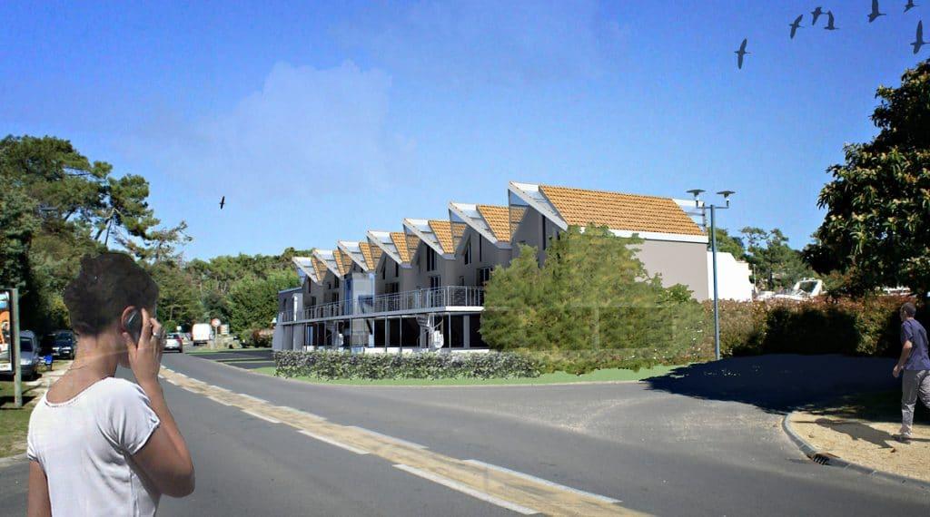 2010 - Ensemble d'habitations et surface commerciale - Cap-Ferret
