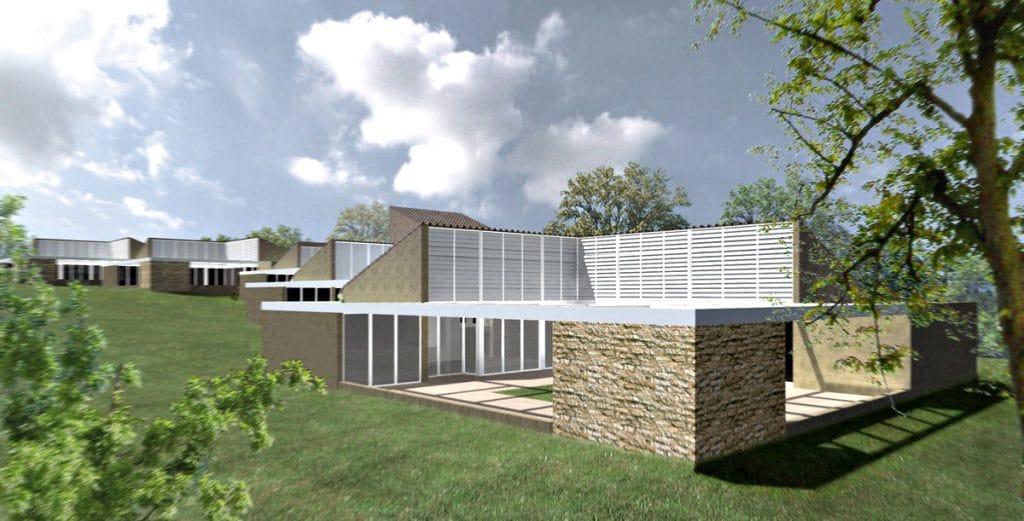 2006 - Hameau de Montroyal - Projet de 75 maisons de vacances - Montréal du Gers
