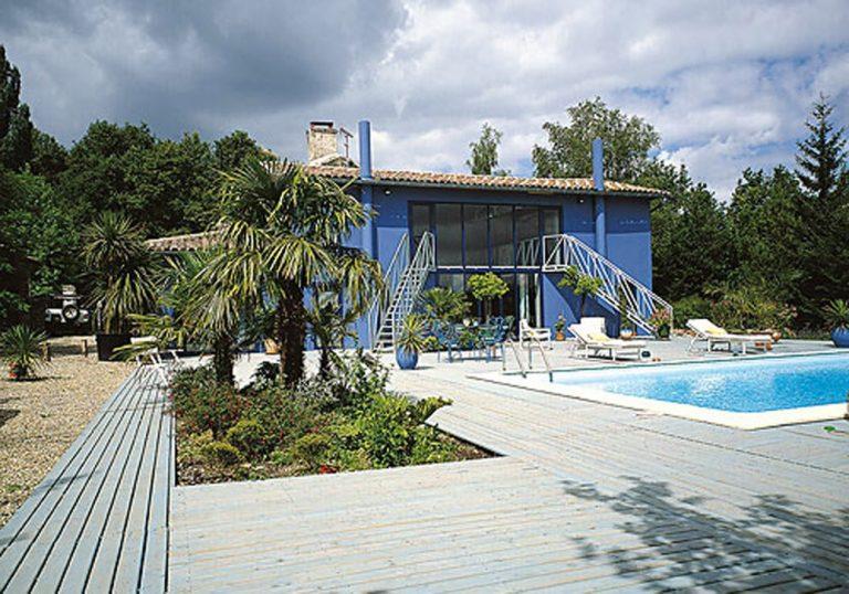 1987 - Maison Bleue - Cénac - 112 m2 - transformation d'une ancienne écurie en loft